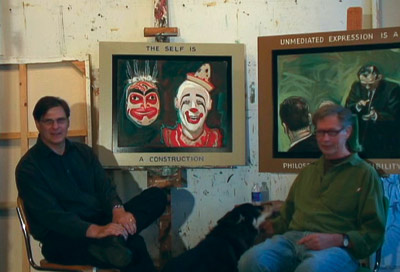 Bruce Adams and Richard Huntington in their studio.