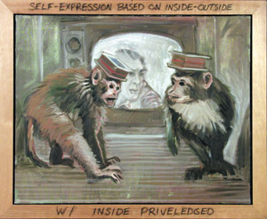 """Self–Expression Based on Inside–Out W/ Inside Priveledged"" by Bruce Adams"