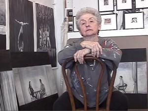Jackie Felix in her studio