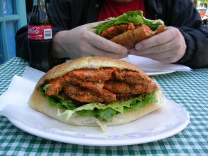 Sockeye salmon sandwich at The Fish Store
