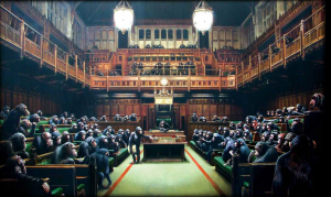 Banksy, Chimps in Parliament